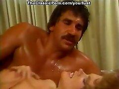 Vintage porn stars Misty Regan, Rhonda Jo Petty, Jesse Adams in classic sex tube clip