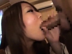 Dazzling Asian girl with tiny tits goes wild on a stiff cock