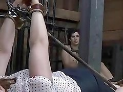Hot girl gets bound and molested by master BDSM porn