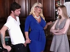 Horny chick Allura Jensen wanted to fuck large massive dicks