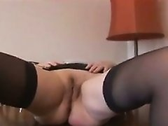 Hairy Granny Plays With Her Tits And Pussy