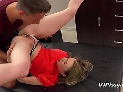 Couple gets kinky in this piss filled hardcore sex session
