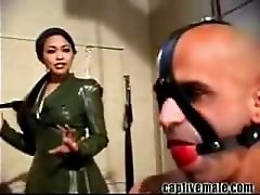 Military Mistress Strapon Fucking Soldier