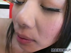 Charming Asian bitch had stout oral session with her man in bedroom