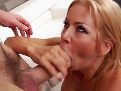 Blonde milf ass fucked and creamed on face