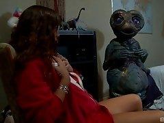 Stunning Alexis Capri masturbates for her beloved alien friend