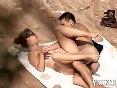 Nude beach - hot amateur voyeur sex