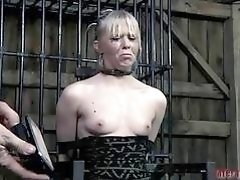 Hot girl gets tied hard and molested very hard BDSM