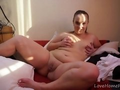 Round gal wants to unveil her shaven vulva
