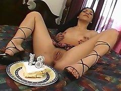 Dani Nixx in pussy fingering and nasty tit slamming in hot masturbation scene