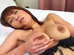 Black haired Japanese nympho goes solo and teases herself with egg love toy
