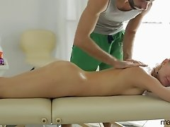 Long and sensual massage ends up with Uliya's pussy getting banged