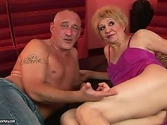 Kati Bell gets her hairy snatch toyed and fucked deep and hard