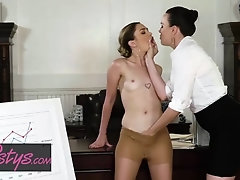 Naughty office girls, Dana DeArmond and Jane Wilde like to get down and filthy with each other