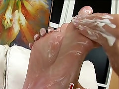 After she takes her clothes off Micki B gets her pussy filled with a dildo