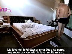 Wife with a man in a motel humiliating her cuckold husband 2