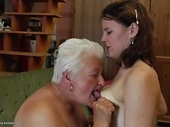 Two lusty lesbian sluts enjoy licking their orgasmic twats