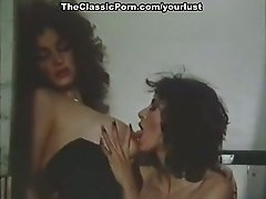 Two vintage brunette lesbians eat each other's wet pussies in the jail