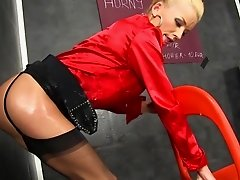 Glory hole solo by hot Adele Sunshine