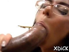 Remarkable brunette Nadia Styles gets her cunny torn apart
