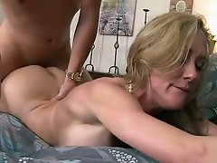 Ample breasted blonde gets her muff fucked doggy and missionary