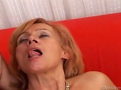 Lecherous mature babe with a hairy pussy enjoys getting screwed in a wild granny gang bang action