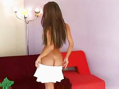 Crissy Moran Strips and Masturbates