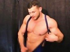 Horny musclemen pressure wrestling