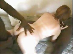 white slut fucks and sucks 2 bbc's