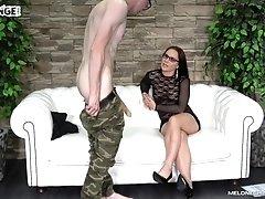 Seductive brunette MILF Wendy Moon spreads her legs to get fucked