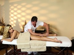 Blonde babes foot massage