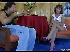 Viola&Lesley naughty nylon feet video