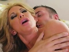Blonde with big tits gets her tight pussy fucked