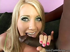 Interracial cowgirl and doggy fuck with blonde babe Barb Cummings