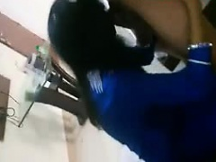 Indian girlfriend in blue salwar blowjob