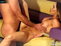 Passionately fucking with the busty Aleska Diamond from Just ANAL powered by Only3x