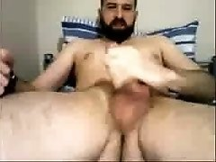 English Str8 Guy plays with his Spit and cums #138