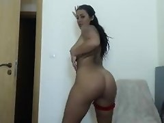 Round ass brunette newbie Abbi Roads nailed on camera