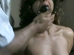 french milf receives fish hooks in her tits