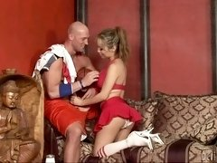 Tranny cheerleader Celeste is eager to ride a thick rod