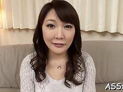 Fascinating housewife Hinata Komine is using her milk jugs