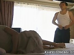 Horny Japanese milf gets her pussy banged from behind