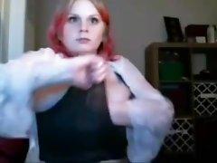Massive Breast Redhead