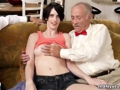 Old granny fucks monster cock and man young Frannkie