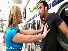 Horny MILF Catches Cock At Laundromat