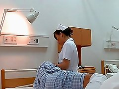 Japanese nurse seduces a man and fucks him in a hospital ward