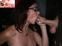 Gloryhole loving spex gives brain