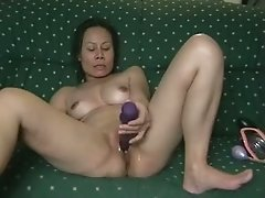 Philippino babe plays with her pussy. Homemade video.