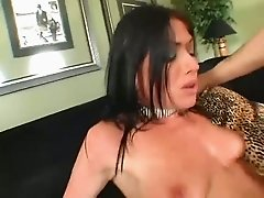 This hot brunette loves extreme sex and she is addicted to DP