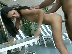 Kate's sweet pussy is fingering licking good and she loves fucking by the pool